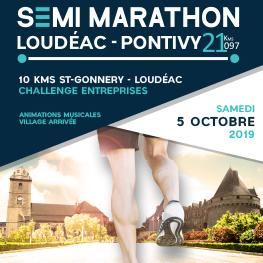 Départ du semi-marathon Loudéac-Pontivy
