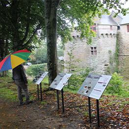 De nouveaux panneaux d'interprétation au Château des Rohan