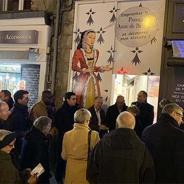 Inauguration du passage Anne de Bretagne relooké