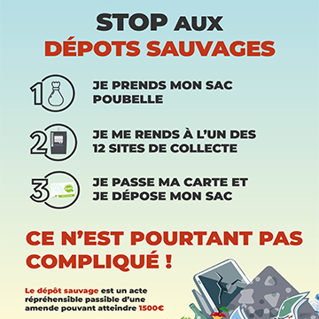 Campagne de communication «Stop aux dépôts sauvages»