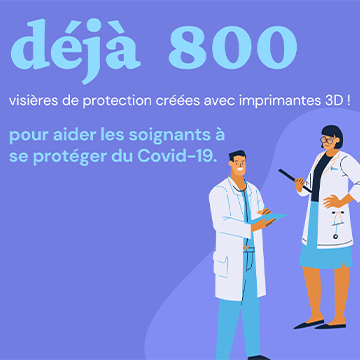 COVID-19 : Plus de 800 visières fabriquées et distribuées sur le territoire de Pontivy