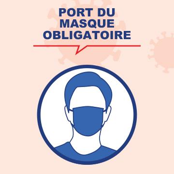 Port du masque obligatoire dans les lieux clos