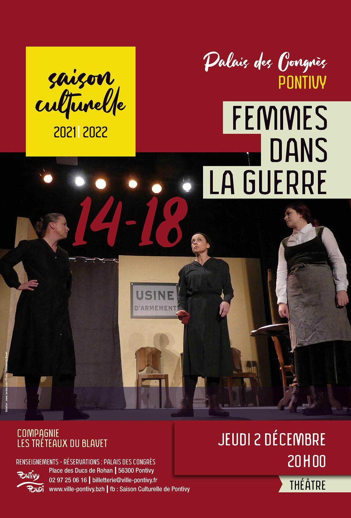 Théâtre : Femmes dans la Guerre par la compagnie les Tréteaux du Blavet