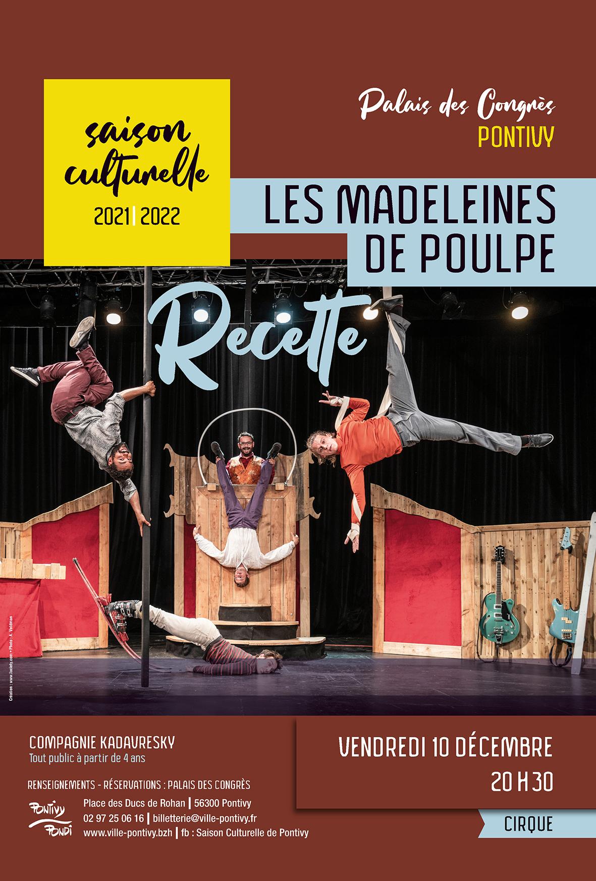 Cirque : Les Madeleines de Poulpe par la compagnie Kadavresky