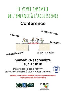 Conférence : le vivre ensemble de l'enfance à l'adolescence