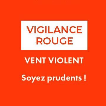 Vigilance rouge : vents violents